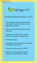2 X 3.5 Vertical Business Card Template