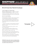 6-3/4 Kost Kut Remit Envelope Template With Instructions