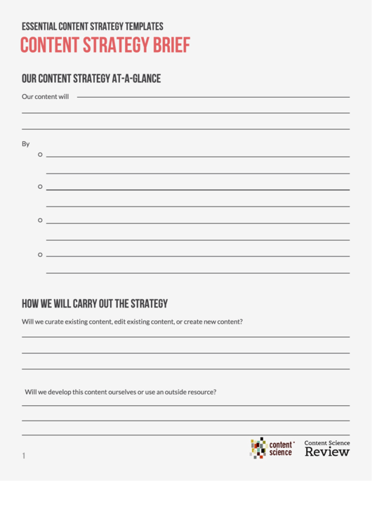 Content Strategy Brief Template
