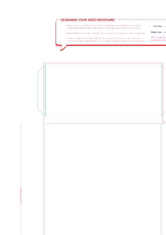 9x12 Portrait Template With Folder Pockets
