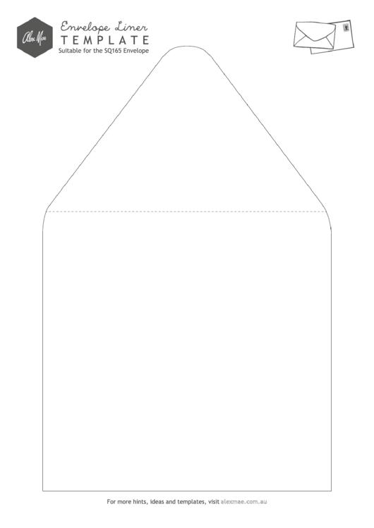 Envelope Liner Template
