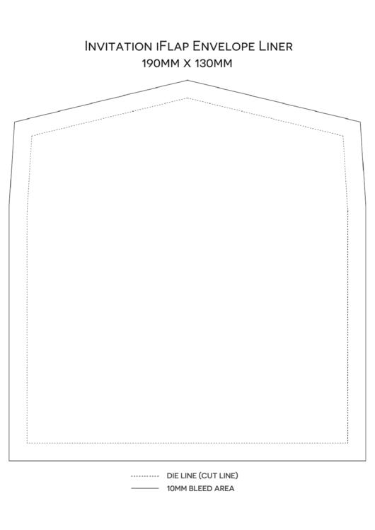Invitation Iflap Envelope Liner