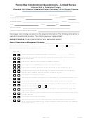 Fannie Mae Condominium Questionnaire - Limited Review