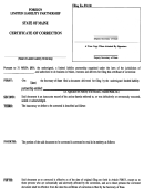 Form Mllp-17a - Certificate Of Correction For A Foreign Limited Liability Partnersidp - Maine Secretary Of State