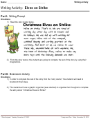Writing Activity: Elves On Strike