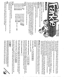 photo relating to Printable Farkle Score Sheets named Farkle Rating Sheet And Legislation (Web page 2 of 2) inside of pdf