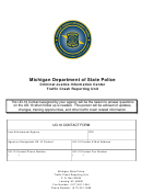 Ud-10 Contact Form - Criminal Justice Information Center Traffic Crash Reporting Unit - Michigan Department Of State Police