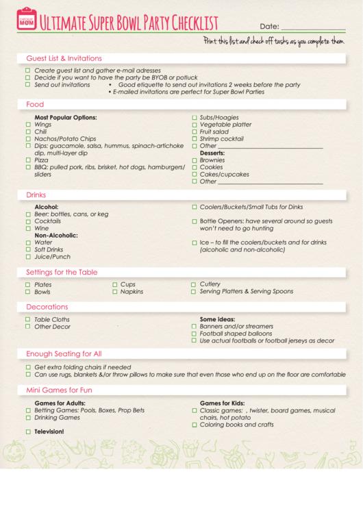 Ultimate Super Bowl Party Checklist
