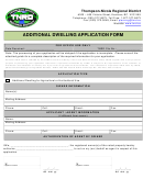 Additional Dwelling Application Form - Thompson-nicola Regional District