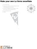 Snowflake Folding Template