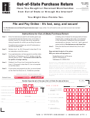 Form Dr-15mo Tc - Out-of-state Purchase Return - Florida Department Of Revenue