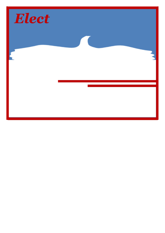 Eagle Election Campaign Sign Template