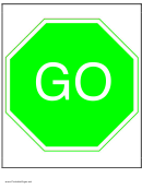 Go Sign Template