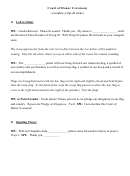 Court Of Honor Ceremony Sample Scripts
