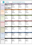 Weekly Social Media Planner Template