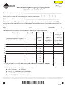 Montana Form Telc - Temporary Emergency Lodging Credit - 2010