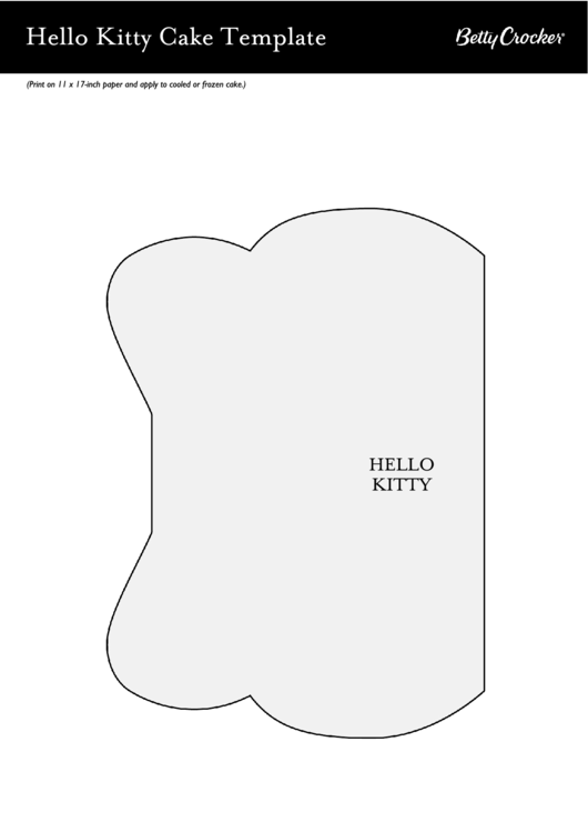 Top Hello Kitty Cake Templates free to download in PDF format