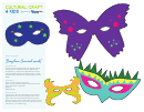 Brazilian Carnival Mask Template