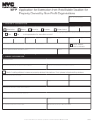 Form Nfp - Application For Exemption From Real Estate Taxation For Property Owned By Non-profit Organizations