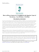 Form A - Civil Action - Superior Court Of New Jersey Law Division