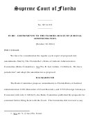 Amendments To The Florida Rules Of Judicial Administration - Supreme Court Of Florida