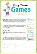 Baby Shower Games Templates