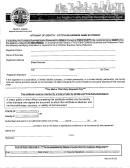 Affidavit Of Identity - Fictitious Business Name Statement - Los Angeles County