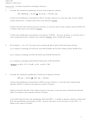 Acid-base Equilibria And Buffer Solutions Worksheet With Answers