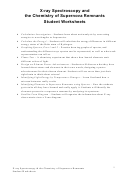 X-ray Spectroscopy And The Chemistry Of Supernova Remnants Student Worksheets