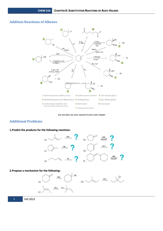 Top 13 Alkenes Worksheet Templates Free To Download In Pdf Format. Substitution Reactions Of Alkyl Halides Worksheet With Answers. Worksheet. Alkenes Worksheet At Clickcart.co