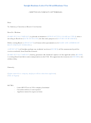 Sample Business Letter For Brazil Business Visa