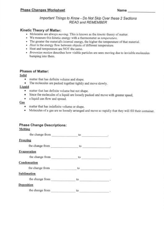 Phase Changes Worksheet Printable Pdf Download. Phase Changes Worksheet Printable Pdf. Worksheet. Phase Change Worksheet At Mspartners.co