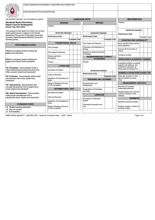 Top Kindergarten Progress Report Templates free to download in PDF ...