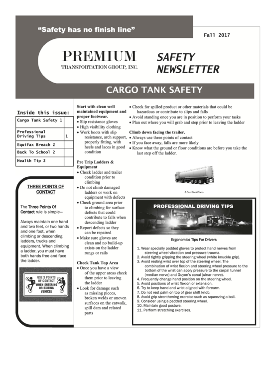 fall safety newsletter template 2017 printable pdf download
