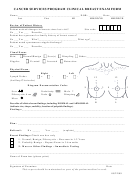 Clinical Breast Exam Form