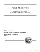 Form B05j-a - Filing For Office Court Of Appeals Judicial Candidate Packet