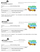 Girl Scout Cookie Donate Form