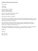 Debt Payment Agreement Letter - Sample