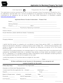 Form 54-024a - Application For Business Property Tax Credit - 2017
