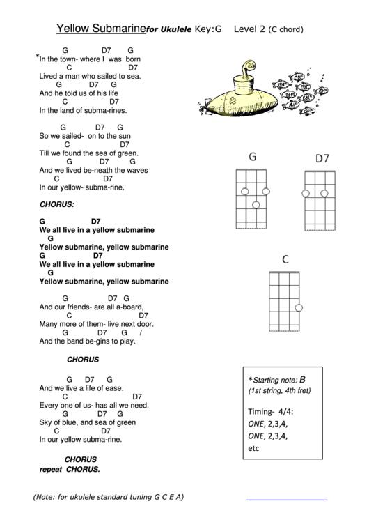 Dorable Yellow Ukulele Chords Images - Guitar Ukulele Piano music ...