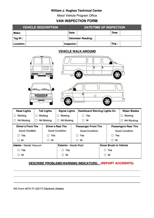 48 vehicle inspection form templates free to download in pdf - Vehicle exterior inspection checklist ...