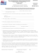 Rad Form 9 - Certificate Of Notice To Rad Of Adjustments In Rent Charged