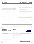 Form De 400-v - Fiduciary Form - 2016