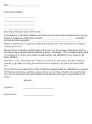 Union Resignation Letter Template