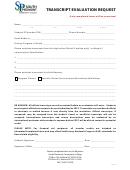 Transcript Evaluation Request - South Piedmont Community College