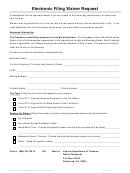 Electronic Filing Waiver Request - Virginia Department Of Taxation