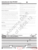 Form 3579 - Pending Audit Tax Deposit Voucher For Lps, Llps, And Remics - Draft
