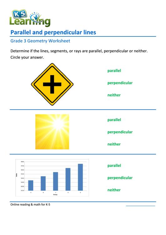 Parallel And Perpendicular Lines Worksheet With Answers Printable pdf