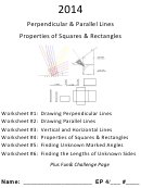 Perpendicular & Parallel Lines Properties Of Squares & Rectangles Worksheet