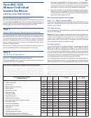 Form Mo-1040 - Missouri Individual Income Tax Return